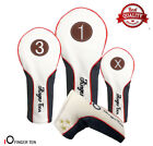 Golf Putter Cover Wood Head Covers Driver Fairway Rescue PU Leather AU Free Post