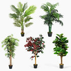 Realistic Artificial Palm Trees Ficus Plants Bamboo Fake Tropical  Home & Office