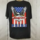 Snap On Tools Men's T-Shirt Black Short Sleeve Graphic American Pride Size XL