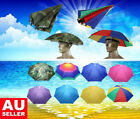 Umbrella Hat Foldable Sun UV Protection Fishing Camping Headwear Caps Golf Hats