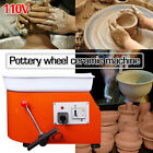 25CM 250W Electric Pottery Wheel Machine For Ceramic Work Clay Art Craft 110V US image