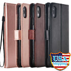 For iPhone X/ XS/ XS MAX/ XR Magnetic Leather Case Card Slot Stand Cover Starp