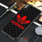 New 98Adidas Red Black Cover iPhone7 8 X XR XS XS Max Samsung Galaxy S7 8 9 Case