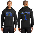 New Zion Williamson 1 Duke Blue Devils Hoodie Hooded Sweatshirt Jersey