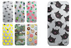 Jelly Bone Luxury Silicon Clear Print Apple iPhone 5/SE 6/6S 7 & 7+ Phone Case