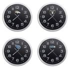 "NFL Team Logo 10"" Round Aluminum Frame Black Face Wall Clock Man Cave Game Room $64.88 USD on eBay"