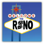 Reno Welcome Sign Car Bumper Sticker Decal  - 3'' Or 5''