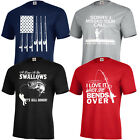 FISHING T-SHIRT FISH FUNNY BOAT GIFT FLAG FATHERS LURE  KIDS S-XL & ADULT S-5XL