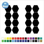 16 5cm Hexagon Stickers Set Vinyl Wall Art Bumper Window Laptop Any Colour