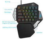 Deluxe Single Hand Gaming Mechanical Keyboard Mouse Combo
