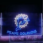 Miami Dolphins Dual Color LED Neon Sign Light Sign 2 Sizes on eBay