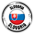 Slovakia Glossy Flag Grunge Stamp Car Bumper Sticker Decal   -3'' or 5''