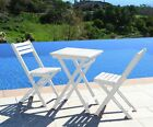 Wood Bistro Patio Garden Table Chair Set Folding Table & Chairs 3 piece set  NEW
