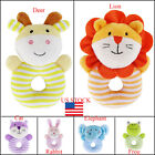 US Baby Rattle Soft infant Plush Toy Educational Hand Bell Stroller Accessories