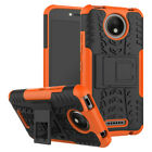 For Motorola Moto Shockproof Rubber Armor Tough Stand Protective Case Cover US