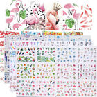 12pcs in1 Flower Water Transfer Nail Art Stickers Adesivi Decorazione Per Unghie