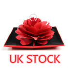 Folding Rose Ring Box Birthday Jewelry Display Boxes Gift With Wedding Valentine