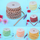 1 Roll of String Half Pearl Beads Garland Strands Home Decor DIY Crafts 15m