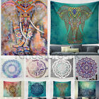 Elephant Mandala Tapestry Hippie Indian Wall Hanging Bohemian Bedspread Decor US