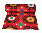 100% Cotton Indian Handmade Kantha Blanket Quilt Throw-Twin Ethnic-Bed-Cover