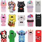 3D Cartoon Soft Silicone Case Cover Skin For Samsung S10 S10E S9 S9+ S8 S7 S6 S5