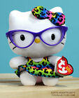 helllo kitty with leopard printskirt and purple glasses