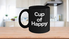Cup of Happy Mug Black Coffee Cup Funny Gift for Joyful Celebrations