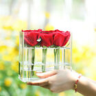 Acrylic Sweet Rose Flowers Box Holder Jewelry Display Storage Case For Wedding
