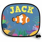 COW FISH UNDER THE SEA PERSONALISED CAR SUN SHADE Window Kids birthday gift 123t