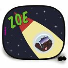 SPACE DOG OUTTA THIS WORLD PERSONALISED CAR SUN SHADE Window Kids birthday gift