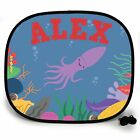 SQUID UNDER THE SEA PERSONALISED CAR SUN SHADE Window Kids baby birthday gift