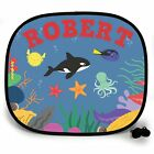 KILLER WHALE PARTY UNDER THE SEA PERSONALISED CAR SUN SHADE Window birthday