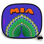 PEACOCK ANIMAL PERSONALISED CAR SUN SHADE Window baby Protection birthday gift