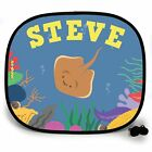 STINGRAY UNDER THE SEA PERSONALISED CAR SUN SHADE Window baby birthday gift 123t