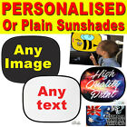 Universal Personalised Car Sunshades Any Image Text Baby Kids Window Protection