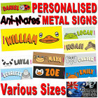 KIDS DOOR SIGN ANIMALS PERSONALISED NAMES CHILDRENS PLAQUES BEDROOM DOORS GIFT