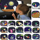 Sunshade Car Sun Shade Personalised Window Space Cartoon Visor blind birthday