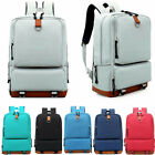 Women's Canvas Backpack School Travel Rucksack Laptop Satchel Shoulder Bag image