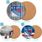 New York Rangers Wood Coaster Coffee Cup Mat Mug Pad Table Decor $3.49 USD on eBay