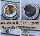 Rhinestone NHL Retractable ID Badge Reel. Available in ALL 31 teams. Ships Free. $9.45 USD on eBay