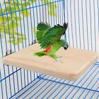 Pet Bird Parrot Chew Toy Wood Hanging Swing Cage Parakeet Perches Stand Platform