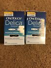 New One Touch Delica 2 Sealed Boxes 33 Gauge Delica Lancets