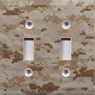 Digital Desert Camouflage Themed Light Switch Cover Choose Your Cover
