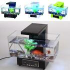 Mini USB Fish Tank Aquarium LED Light Sound Recycled Water Small Electronic Ecol