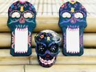 Day of the Dead Sugar Skulls & Matching Mirror Artwork Mexican Folk Art Handmade