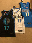 #77 Luka Doncic Dallas Mavericks City Edition / White / Blue Men's Sewn Jersey