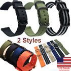 US 18mm 20mm 22mm 24mm Ballistic Durable Military Nylon Wrist Watch Band Strap image