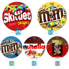 Chocolate Skittles Funny Packaging Wooden Wall Clock Home Decoration Novelty