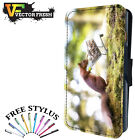 FUNNY SQUIRREL PEANUTS SHOPPING BASKET - Leather Flip Wallet Phone Case Cover