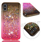 Bling Crystal Quicksand Glitter Dynamic Liquid soft back Phone cover case #1